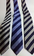 Neuf à Rayures Cravate 100% SOIE à Rayures Cravate De Fête Cadeau UK