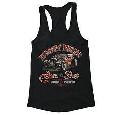 Rusty Nuts Racerback Auto Shop Classic Car Garage Motorcycle Route 66 Biker Tank