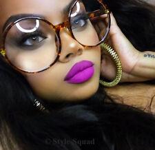 0bd9b53b658 Oversized XXL Round Circle Clear BOHO Huge Women WaYfe Eyeglasses Frames  1734 L