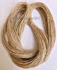 100M Mts 1Ply Natural Brown Jute Hessian Burlap Rustic Twine String Jewellery