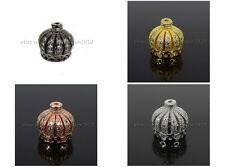 Clear Zircon Gemstones Pave Exquisite Crown Bracelet Connector Charm Beads