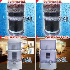 16L 24L Water Filter Bench Top Bottle Dispenser Ceramic Carbon Mineral Purifier