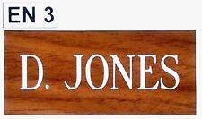 Deep Engraved, House, Name Plate, wood effect, Personalised, Door Number