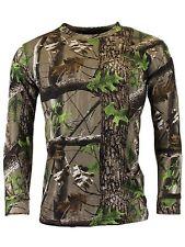 Game Trek Camo Camouflage Army Long Sleeve T Shirt Hunting Fishing Camo Top