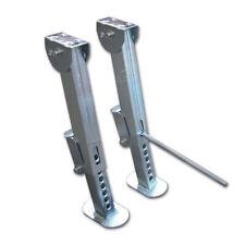 Coppia Piedini acciaio zincato Stazionamento sosta camper 3 misure CASG