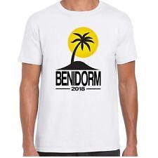 Para Hombre Benidorm 2018 destino de vacaciones Camiseta Palm