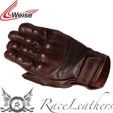 Weise Victory Braun Kurz Retro Vintage GESTYLT Motorrad Motorrad Handschuhe
