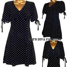 EX HIGH STREET Super Cute Polka Dot Mini Tea Dress Sizes 10-20