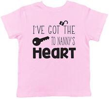 I've Got the Key to Nanny's Heart Childrens Kids Short Sleeve T-Shirt Tee