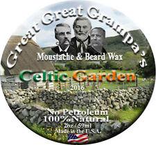 "St. Patrick's Day ""Celtic Garden"" - Scented Moustache & Beard Wax - 3 Holds"