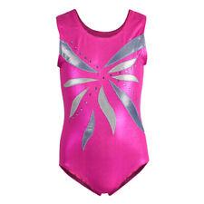 Girls Gymnastic Ballet Leotards Training Tank Dancewear Athletic Bodysuits