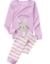 GYMBOREE HOPPY EASTER Happy Purple Striped Bunny Rabbit Gymmies Size 4 , 6 or 8