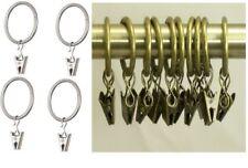 Swish anello anelli x tenda con ganci pinze in metallo 10 Pz vari colori ø 20 cm
