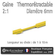 Gaine Thermorétractable 2:1 - Diam. 6 mm - Jaune - 1 à 10m #151