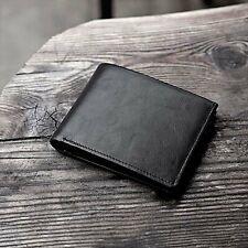 [Multi-Pocket] Ultra-Slim Genuine Leather RFID Blocking Wallet Purse For Men-US