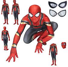 Spiderman Gold Costume Carnevale Animazione Uomo Bambino Cosplay Costume SPM007
