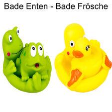 Baby Badeente Badefrösche Gummiente Gummifrosch Quietscheente Wasserspielzeug