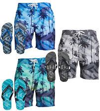 Men's Smith & Jones onshore Holiday Beach Swim Shorts + Flip Flops S M L XL