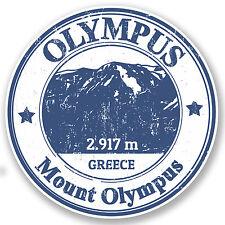2 x Mount Olympus Greece Vinyl Sticker Decal iPad Laptop Travel Luggage #4789