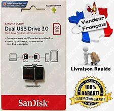 Clé Dual USB 3.0 OTG SANDISK ULTRA - Proposée en version : 32 ou 64 Gb Go Giga