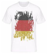 T-Shirt Deutschland Fahne Flagge 2016 EM Trikot Shirt für Fans mit Tickets Euro