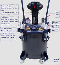 8gal Pressure Feed Paint Mixer Pot Tank Sprayer Regulator Air Agitator Mixer