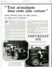 Publicité ancienne voiture Chevrolet Six Général Motors 1929 issue de magazine