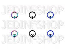 BCR Hoop CBR - 1.6mm (14g) - 6mm - Titanium Anodised - Ball Closure Ring