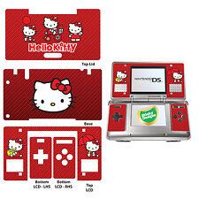 Hello Kitty Vinyl Skin Sticker for Nintendo DS Original - Red