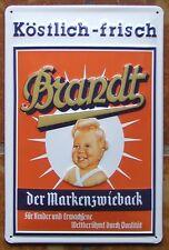 """""""BRANDT"""" BISCOTTES avec enfant, orig. en tôle Bouclier 20 X 30 cm"""