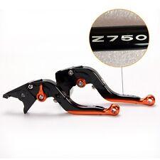 LOGO Folding extendy brake clutch levers For Kawasaki Z 750 (2004 2005 2006)