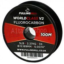 100m Fulling Mill World Class V2 Fluorocarbon Fly Fishing Leader Tippet Line