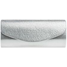 CASPAR TA379 Damen Metallic Strass Glitzer Clutch Tasche Abendtasche Brauttasche