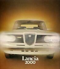 Lancia 2000 Berlina 1972-75 UK Market Brochure Carburettor Injection Flavia
