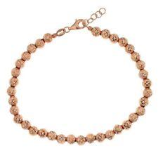 Bracciale oro rosa 18 kt sfere da 5mm gioielli donna uomo regalo matrimonio prom