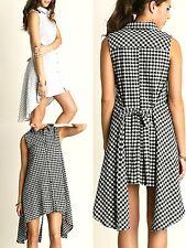 Umgee Dress Size S M L Black Checkered Tank Shift Free Boho People Womens New