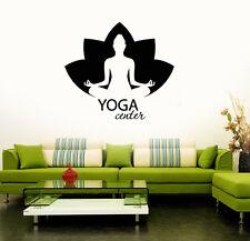 Wall Vinyl Stickers Decal Yoga Center Meditation Lotus Buddhism (ig3158)