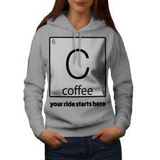 Wellcoda Morning Ride Womens Hoodie, Funny Science Casual Hooded Sweatshirt