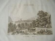 1836 INCISIONE A BULINO LAGO DI GARDA VEDUTA DI MALCESINE VERONA