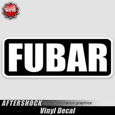 Fubar decal beyond repair military car truck sticker