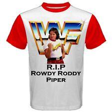Rowdy Roddy Piper Hot Rod Wrestling Men's Cool Max Sport T-SHIRT TEES RR4