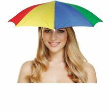 Adults Gay Pride Umbrella Hat Unisex Rainbow Hat Fancy Party Wear Accessory