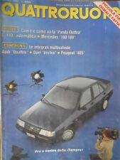 Quattroruote 413 1990 Collaudi Mercedes 190 16V.Com'è e come va la Panda Elettra