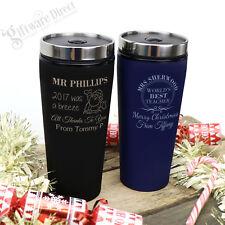 Custom Engraved Thermal Coffee Travel Mug Personalised Christmas Gift Teacher