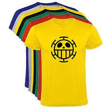Camiseta  One Piece Trafalgar Law Bandera Hombre varias tallas y colores a128