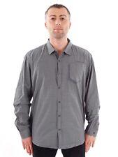 NO EXCESS Camicia Cameriere maglietta grigia motivo Taschino Bottoni