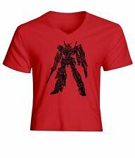 Gundam UC RX-0 Unicorn Gundam [Destroy Mode] Men / Unisex V-Neck Tee Top T-Shirt