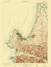 Topographical Map Print - Monterey California Quad - USGS 1913 - 23 x 29.76