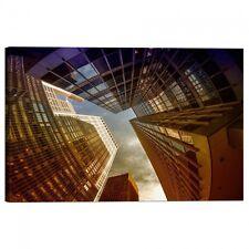 Quadro Stampa su Tela con Telaio Fisheye al rialzo vista Grattacieli di New York