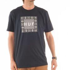 HUF Bandana Tee T-shirt shirt navy blue blau Muster weiß inka ethno TS51029 NAV